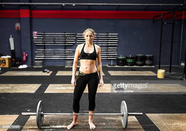 woman portrait on the gym