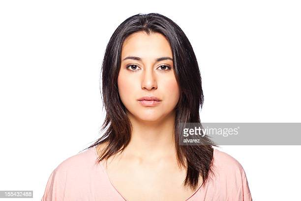 woman portrait - blank expression stock pictures, royalty-free photos & images