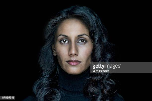 woman, portrait - black background stock pictures, royalty-free photos & images