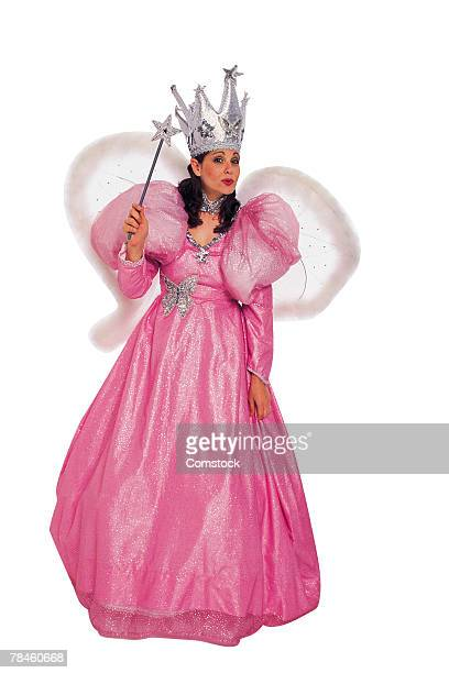 Woman portraying fairy godmother