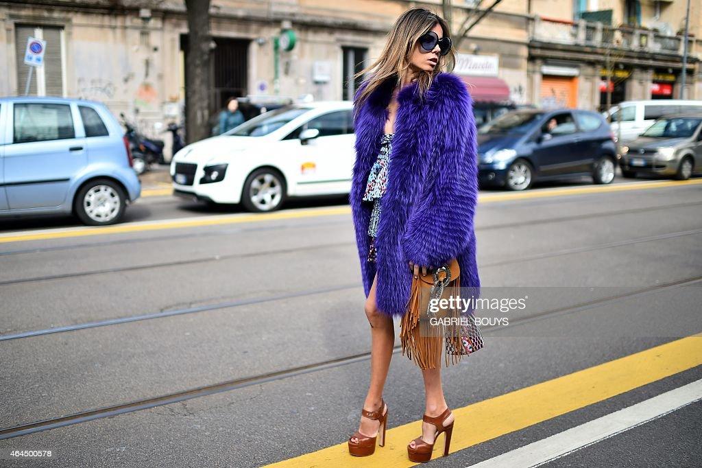 FASHION-ITALY-WOMEN-STREET : News Photo