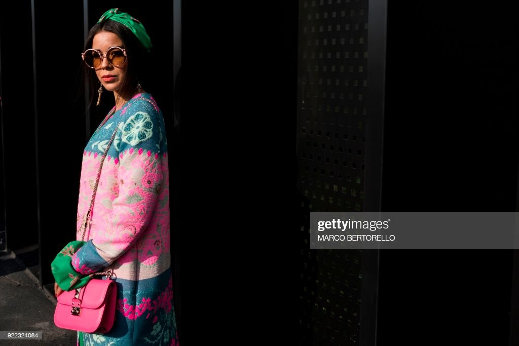 FASHION-ITALY-GUCCI-STREET-FEATURE : News Photo