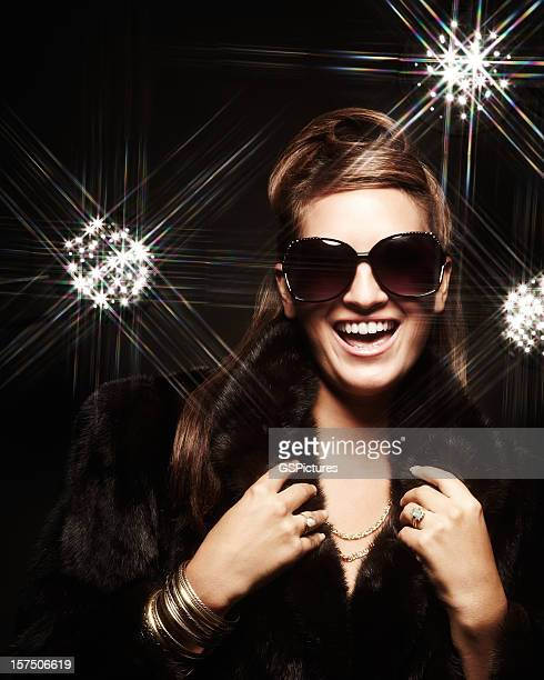 woman posing for camera - celebrity fake photos stock pictures, royalty-free photos & images