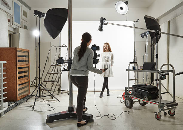woman posing in photographic studio picture