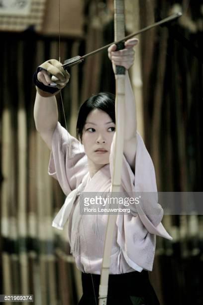 Woman Practicing Kyudo
