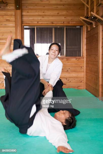Woman Practicing Self-Defense