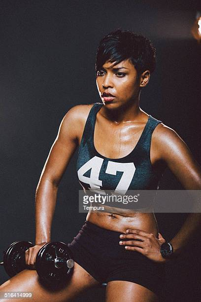 Woman practicing sport.