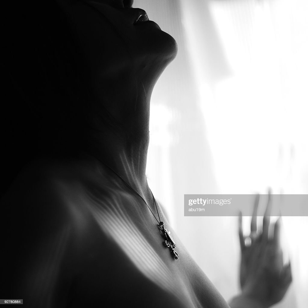 Woman praying : Stock Photo