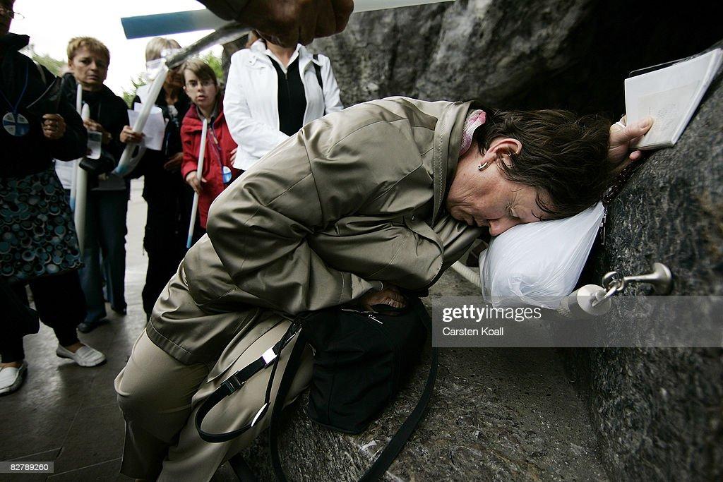 Catholic Faithful Prepare For The Pope`s Visit To Lourdes : News Photo