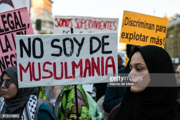 Woman protesting against racism.