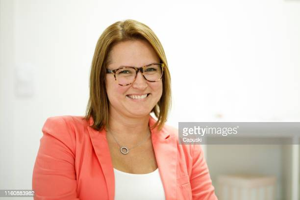 woman psychologist portrait - blazer jacket stock pictures, royalty-free photos & images