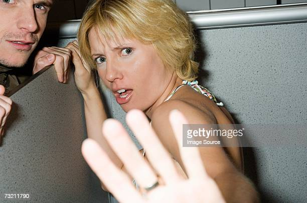 Woman putting out her hand