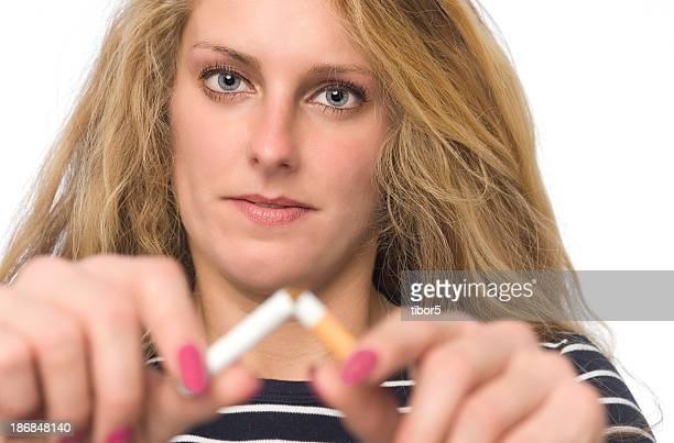 Woman Quitting Smoking