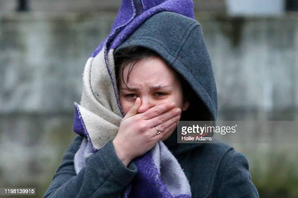 A woman reacts near to the scene where a man was shot and killed by armed police on February 2 2020 in London England The Metropolitan police have...