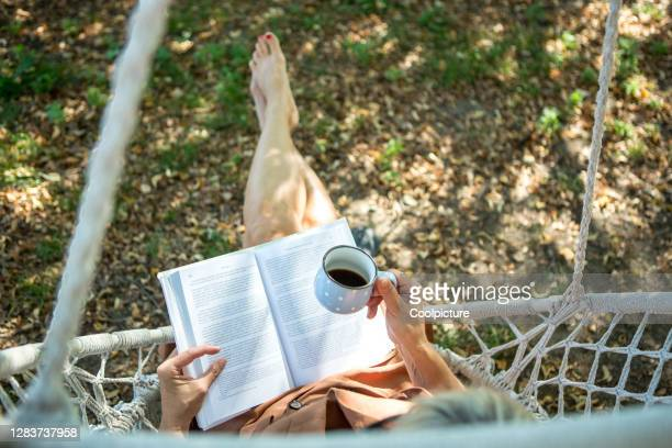 woman reading a book. - book stock pictures, royalty-free photos & images