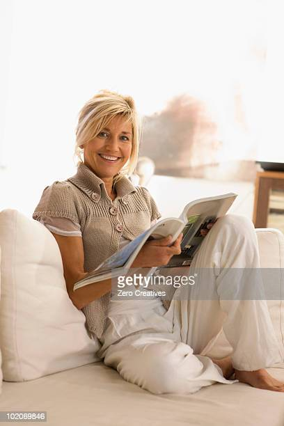 Woman reading a journal