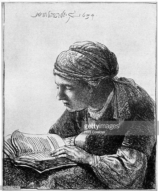 'Woman Reading' A print from The Connoisseur'