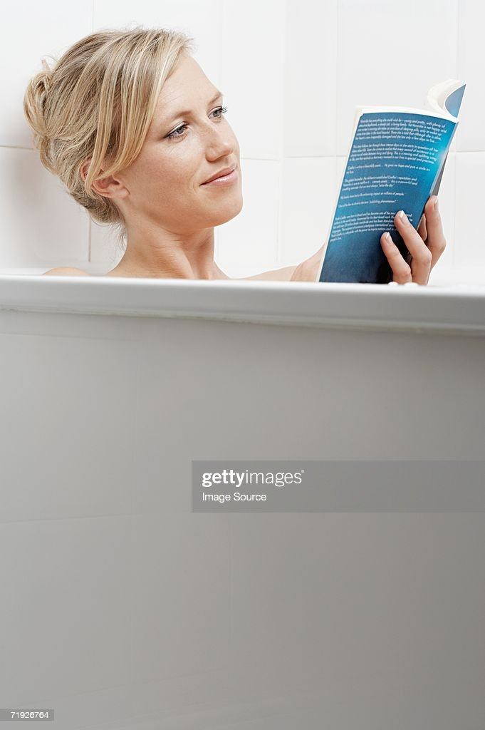 Woman Reading In The Bath Stock Photo | Getty Images