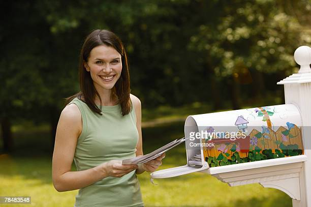 Woman reading mail