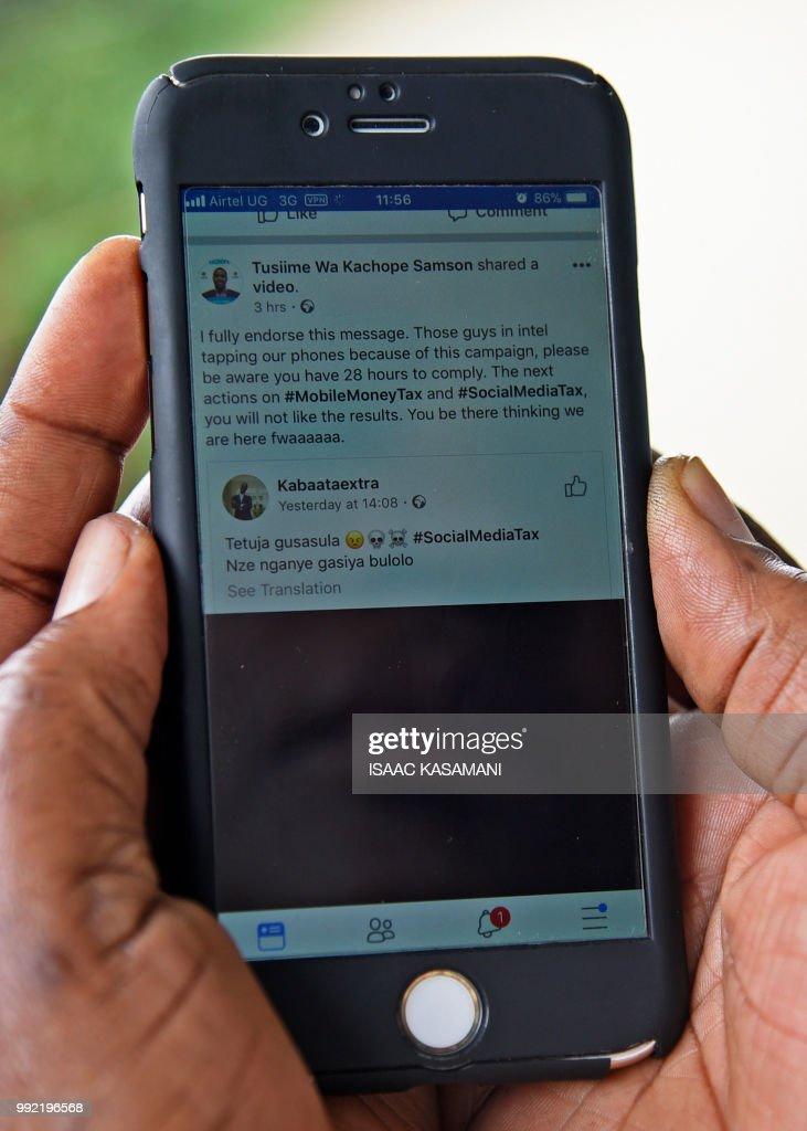 UGANDA-INTERNET-TAXATION : News Photo