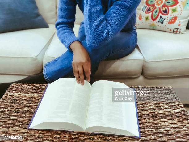 woman reads book - school cane stock pictures, royalty-free photos & images