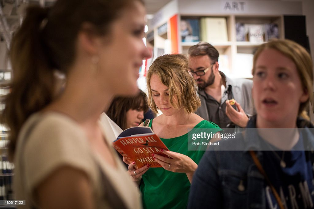 A woman reads 'Go Set A Watchman' by Harper Lee whilst queuing to buy it shortly after midnight at Foyles book shop on July 14, 2015 in London, England. Go Set a Watchman was written in the mid-1950s before Lee's Pulitzer Prize winning novel To Kill a Mockingbird, which was published in 1960. The original manuscript was then lost for nearly half a century years, discovered by Harper Lee's lawyer in late 2014. The novel goes on sale on July 14.