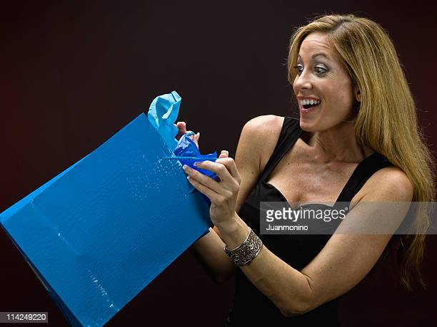 A woman receives the perfect gift