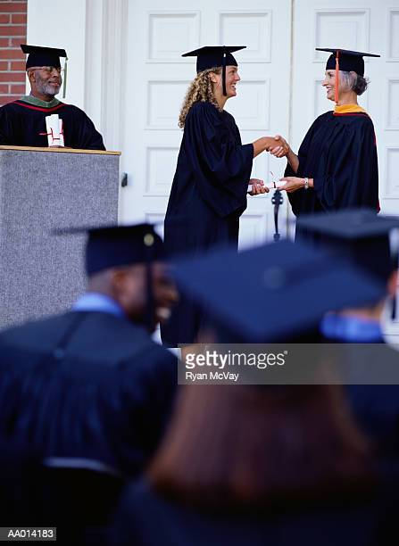 Woman Receiving a Diploma