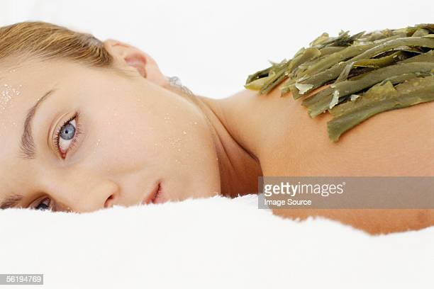 Woman receiving alternative treatment