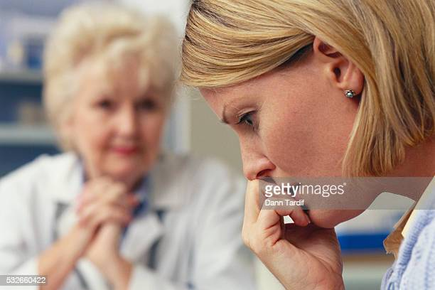 Woman Receiving Bad Medical News
