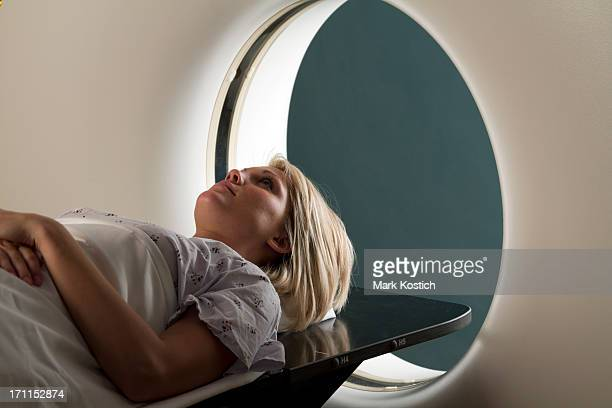 Woman Receiving CAT Scan