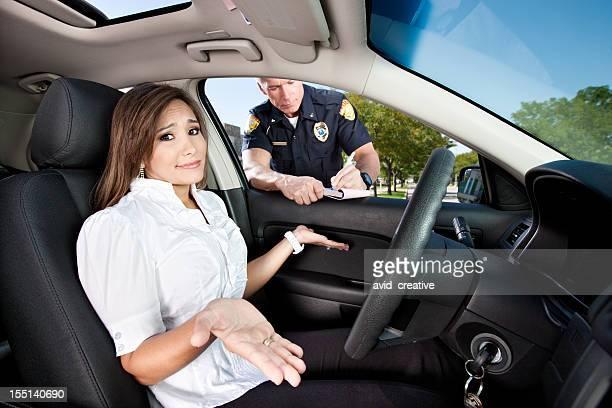 Woman Receiving Moving Violation
