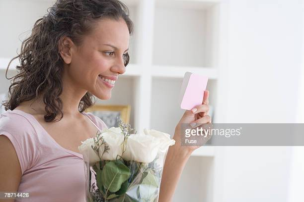 Woman Receiving Roses
