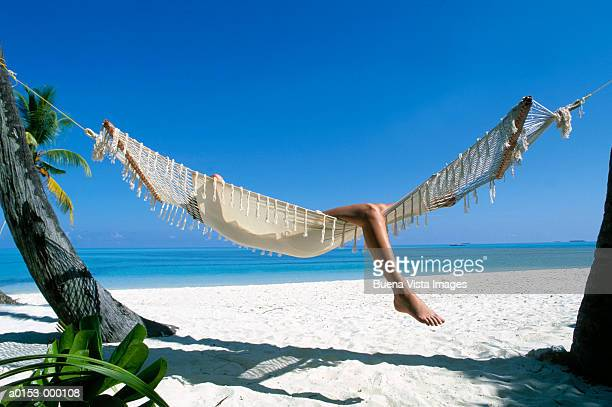 Woman Reclining in Hammock