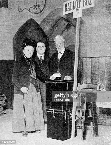 A woman recording her vote at the ballot box c1922 Women over the age of 30 were given the right to vote in Britain for the first time by the...