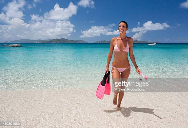 woman recreation beach