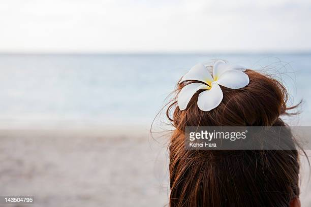 woman relaxed on the beach