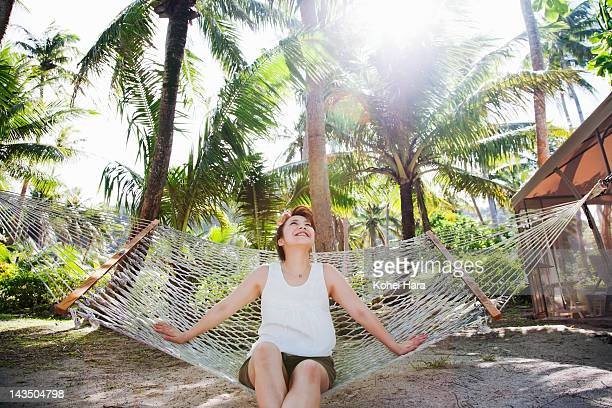woman relaxed on the beach - guam stock pictures, royalty-free photos & images