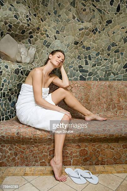 Frau Entspannung im spa