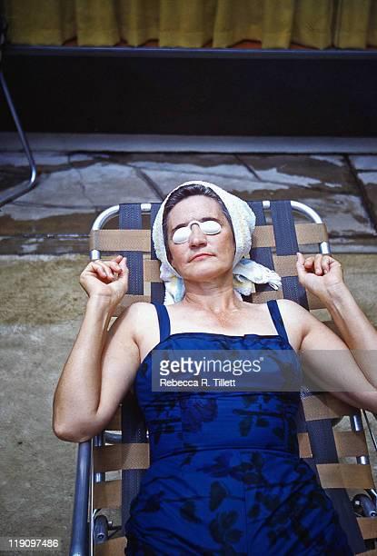 Woman relaxing in bathing suit
