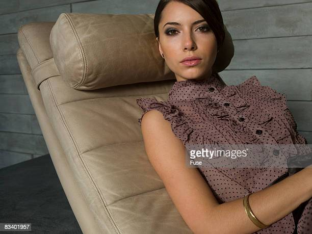 Woman Relaxing on Chair