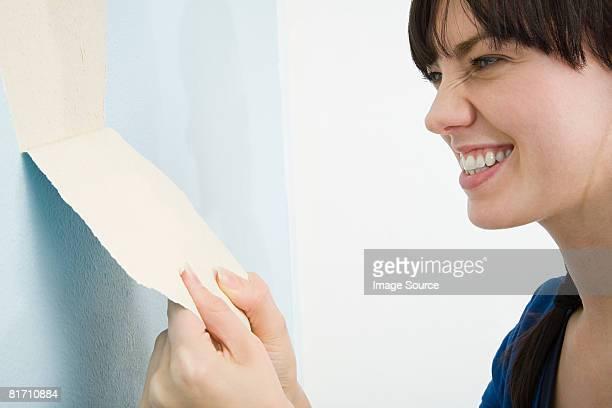 Frau entfernen Tapete
