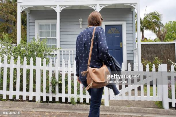 Woman Returning Back Home from Work