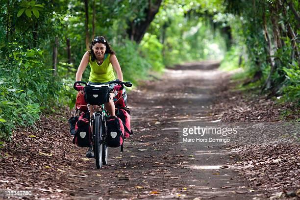 Woman riding cycle