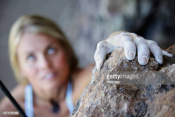 woman rock climber - chalk rock stock pictures, royalty-free photos & images