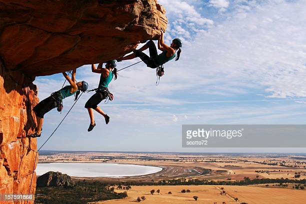 woman rockclimbing sequence - steep stock photos and pictures
