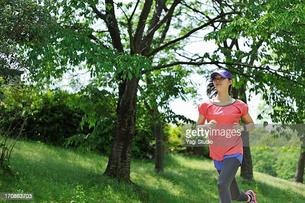 Woman running for exercise.