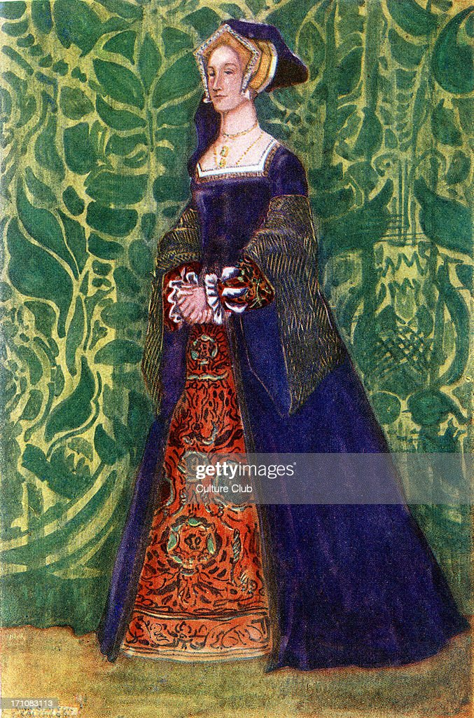 Woman 's costume in reign of Henry VIII (1509-1547) : News Photo