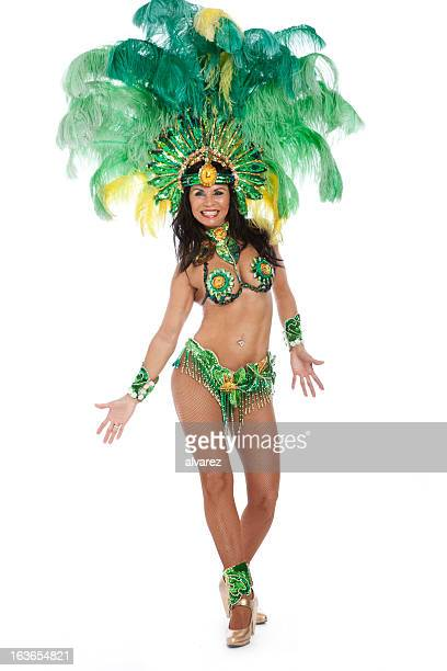 woman samba dancer - brazilian carnival stock pictures, royalty-free photos & images