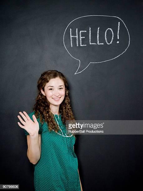 """Mulher de dizer olá"""""""""""